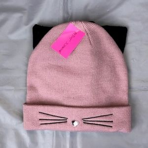 Betsey Johnson Cat Beanie and Glove Set.NWT!